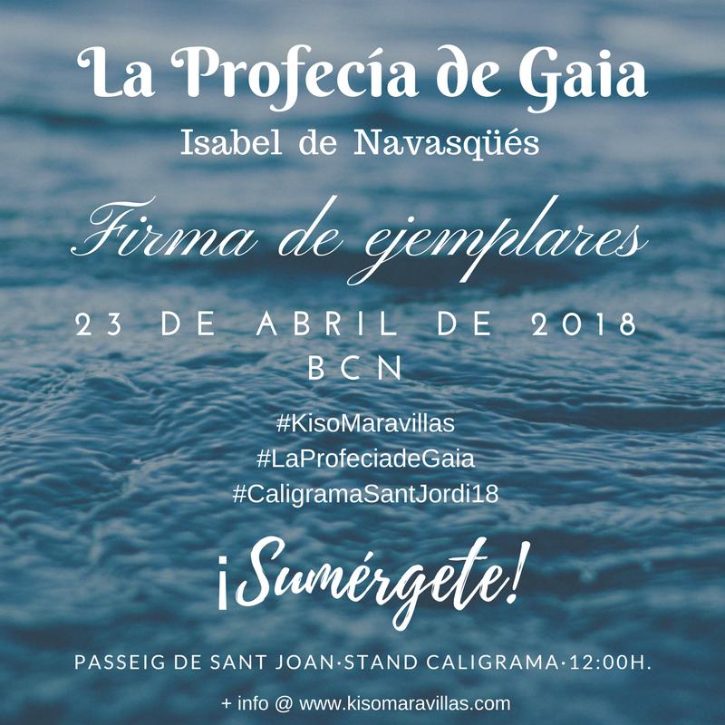 [cml_media_alt id='550']La autora de La Profecía de Gaia en BCN firmará ejemplares[/cml_media_alt]